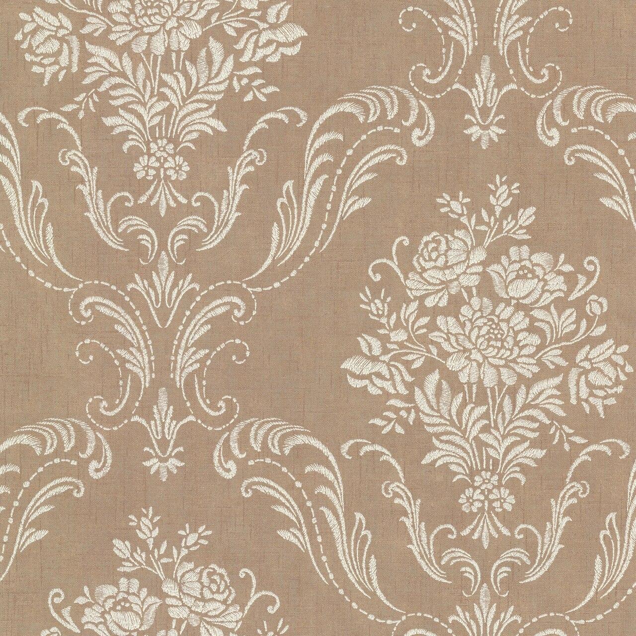 Brewster 2665 21444 Avalon Manor Copper Floral Damask Wallpaper 1280x1280