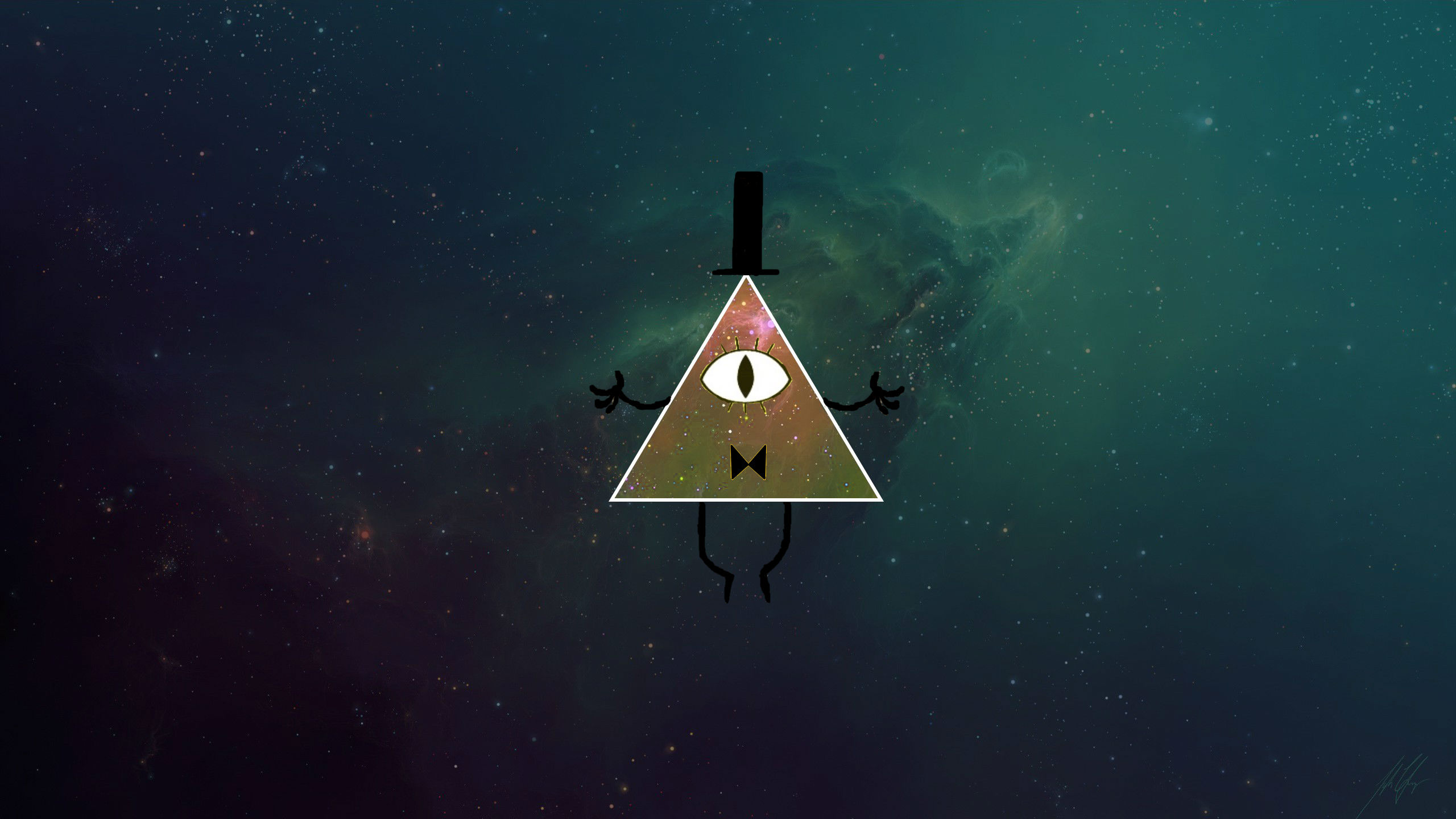 Gravity Falls Wallpaper   Triangle Galaxy Download Wallpapers on 2560x1440