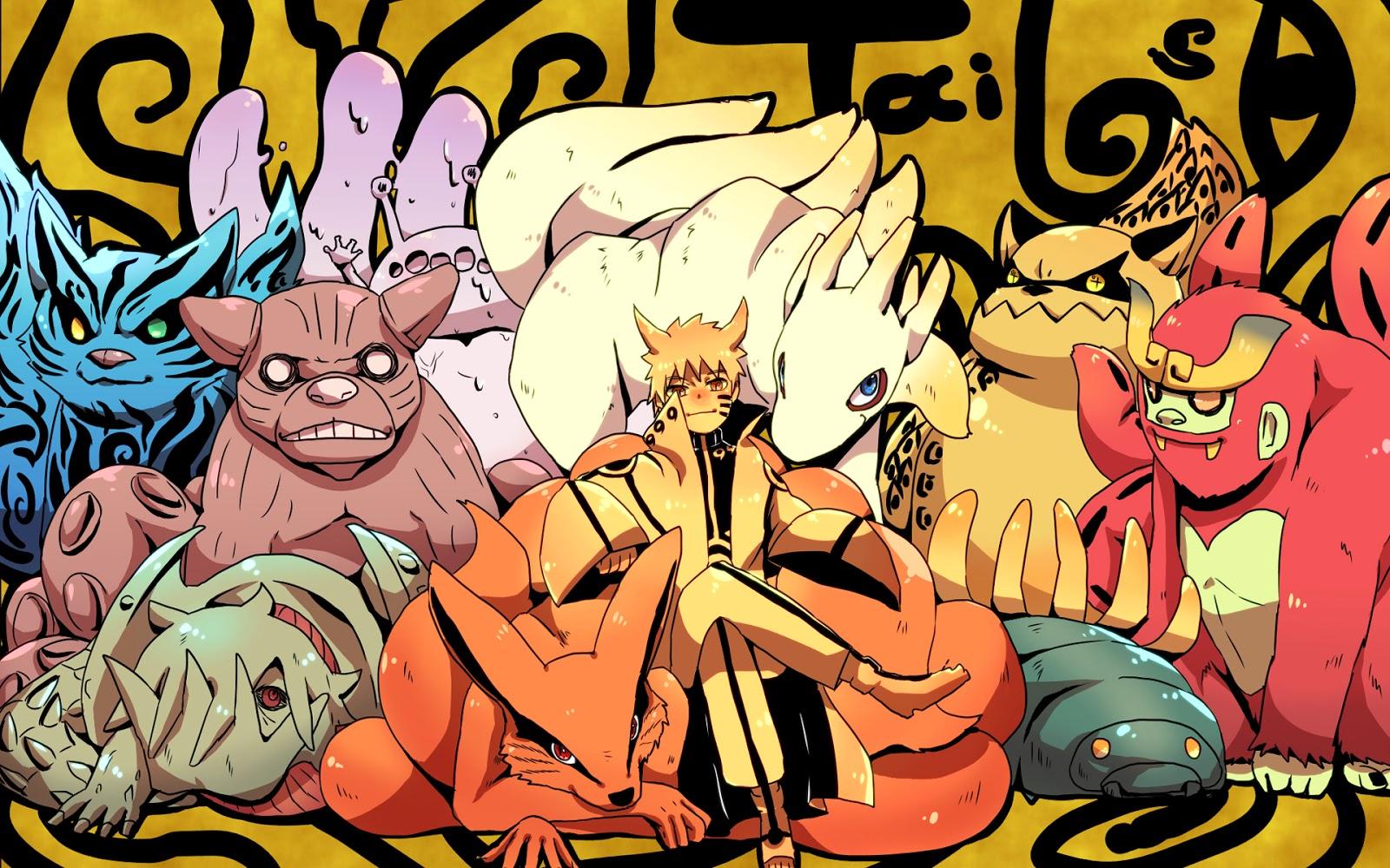 All Tailed Beast Naruto Sage Tailed Beast Mode Chibi Shippuden Anime 1600x1000
