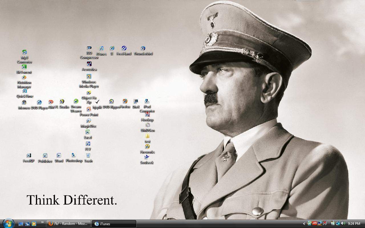 Wallpapers Backgrounds   Proper wallpaper Tags dark humor Hitler Nazi 1280x800