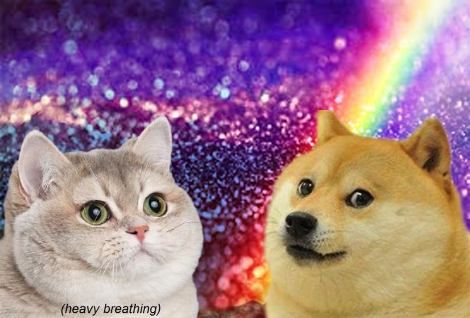 Heavy Breathing and wow doge Meet by QueenChoconator 1600x1084