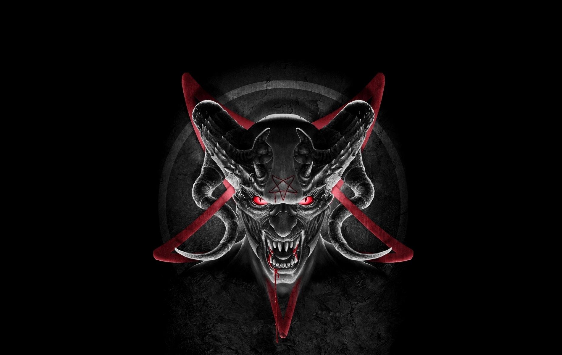 Wallpaper Demon devil horns satan pentagram desktop wallpaper 1900x1200