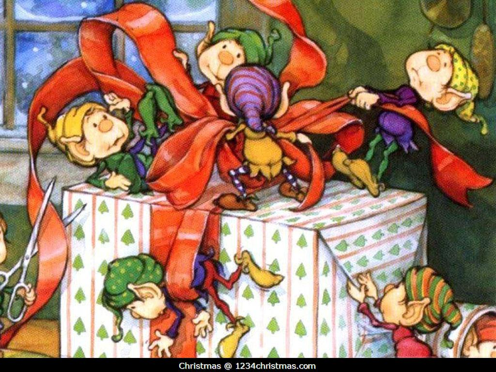 Christmas Elf Wallpapers for Download 1024x768