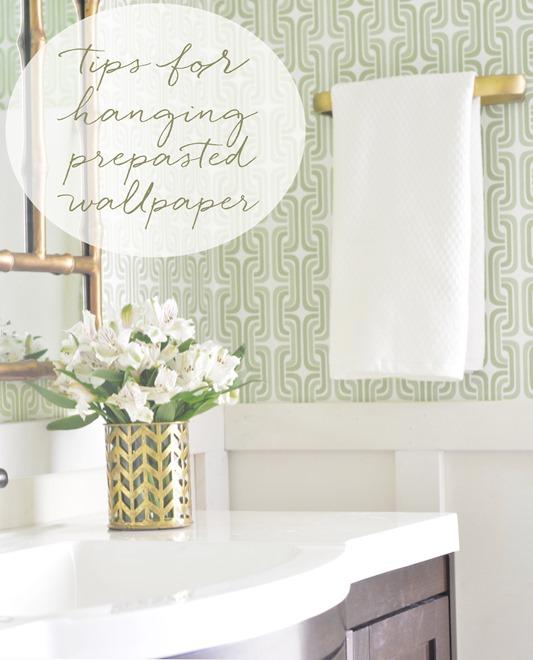 Centsational Girl Blog Archive Hanging Prepasted Wallpaper Tips 533x660
