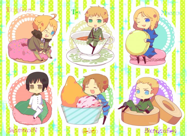 Axis Powers Hetalia chibi wallpaper 3509x2550 135981 WallpaperUP 736x535