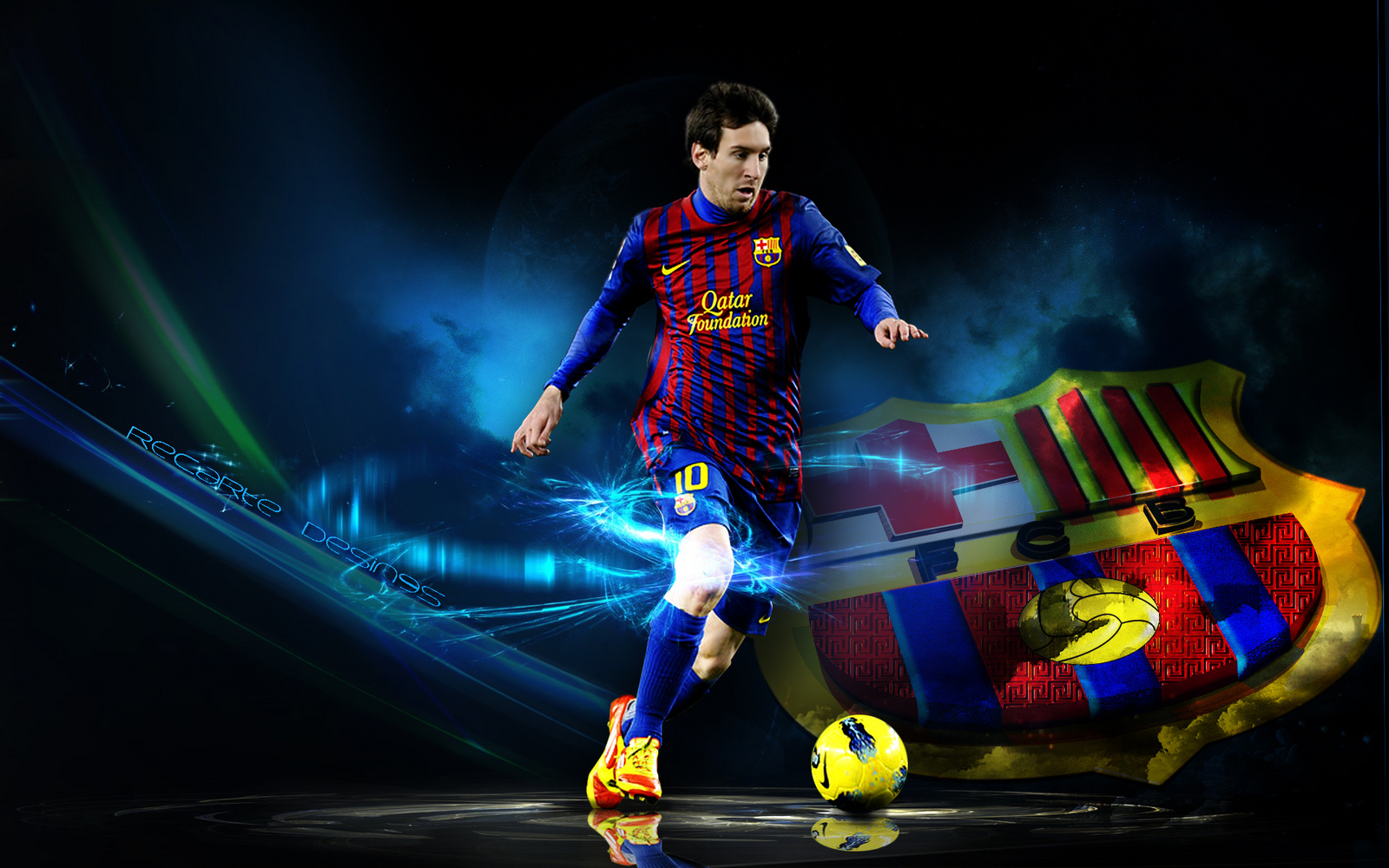 Messi Nike Football HD Desktop Wallpaper HD Desktop Wallpaper 1600x1000