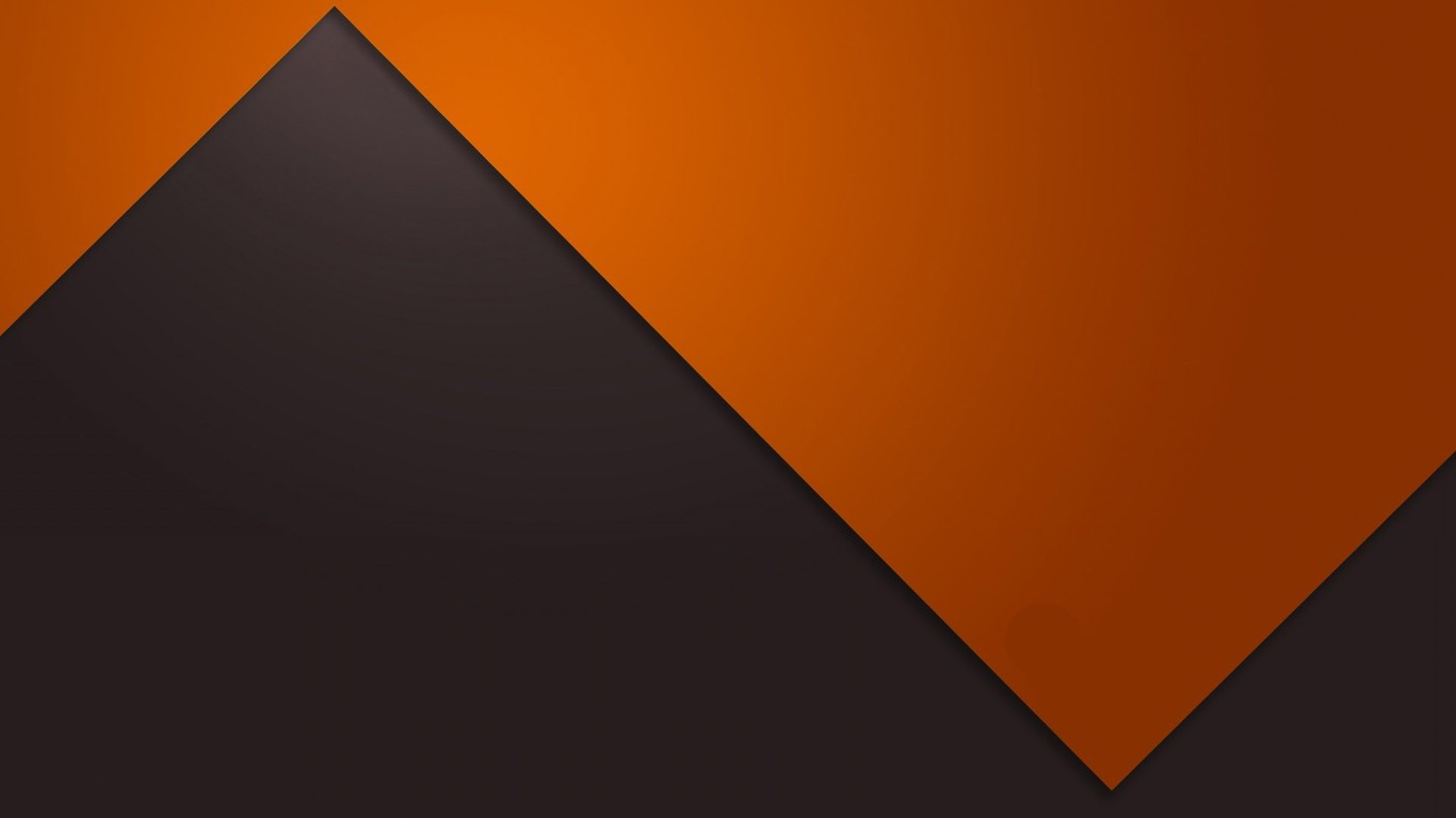 Download Orange and gray zigzag wallpaper 1366x768