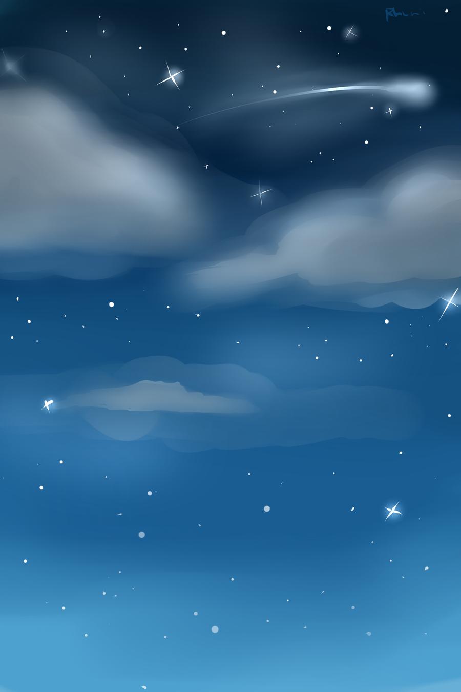 Night Sky Custom Background by Rhuni 900x1350