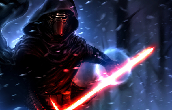 Kylo ren sith lightsaber star wars the force awakens wallpapers 596x380