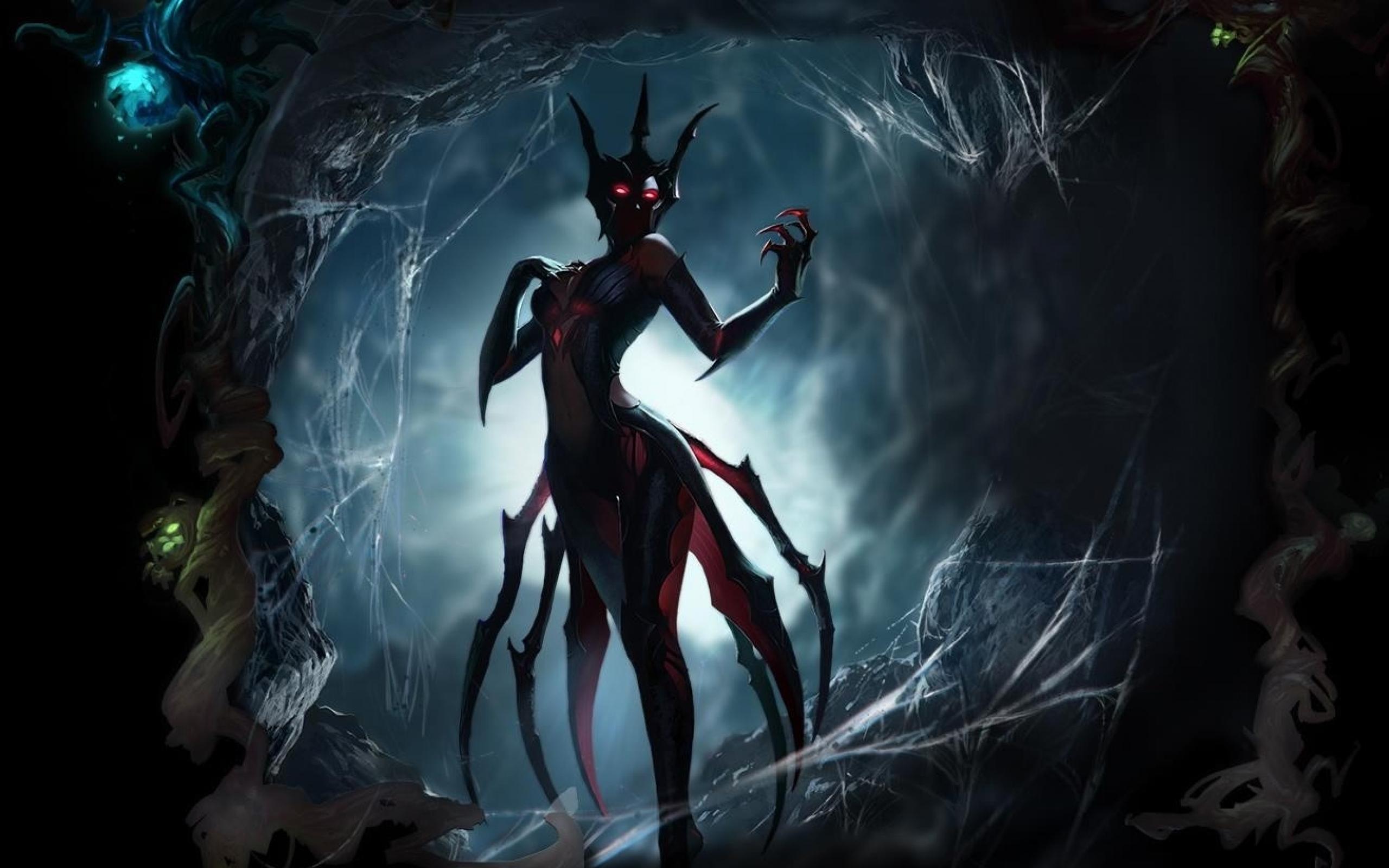 of legends elise the spider queen 1317x890 wallpaper Art HD Wallpaper 2560x1600