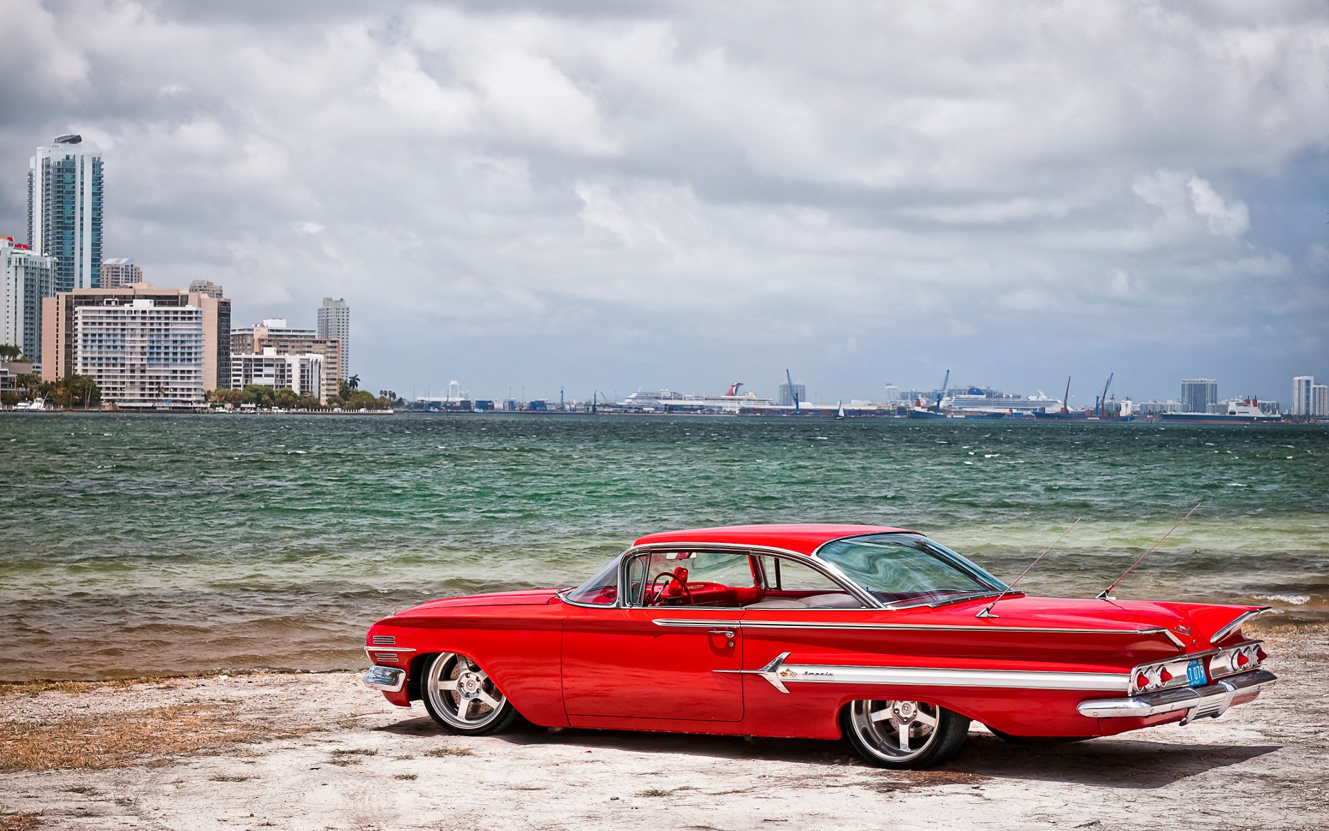 Old school wallpapers Red Chevrolet Impala Old school stock photos 1920x1200