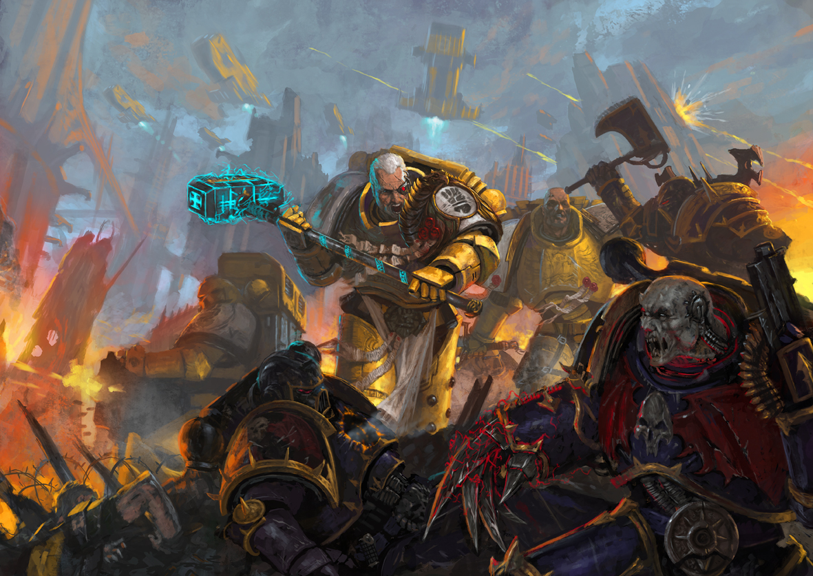 Artwork] Imperial Fists   HALL OF HONOUR   The Bolter and 1181x836
