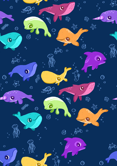 Cute Whales Tumblr Background Cute whales and dolphinsjpg 410x580