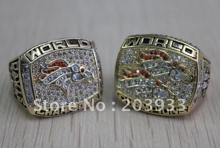Broncos 2 pcs 1997 1997 Denver Broncos super bowl World Championship 741x500