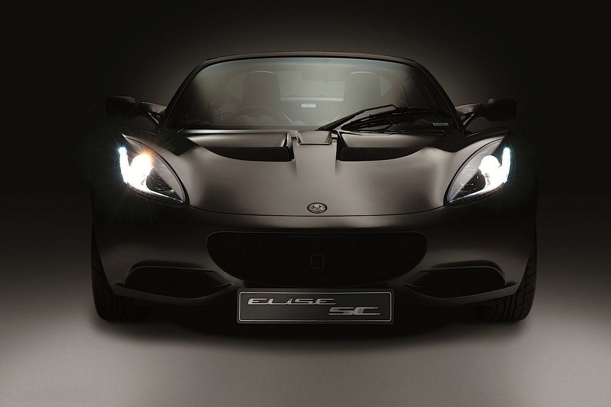 Exige Matte Black Final Edition Sports Car Front Wallpaper 2000x1333