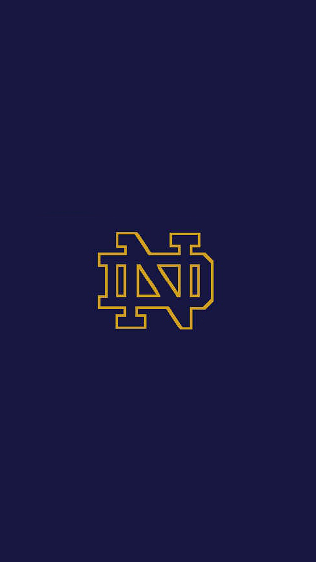 Notre Dame Logo iPhone 5 Wallpaper 640x1136 640x1136