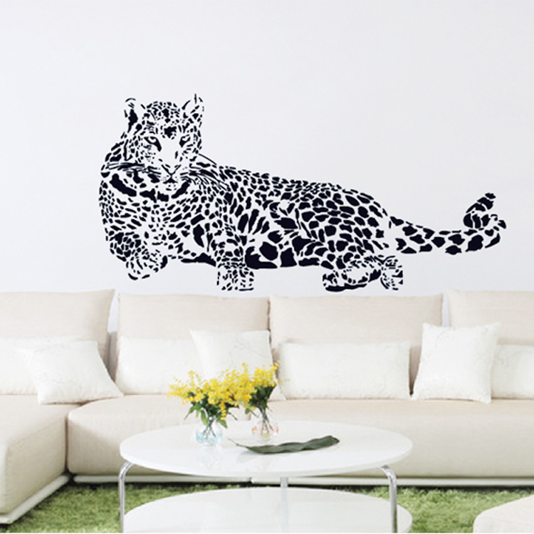 Large wall stickers animal The cheetah 110 52cm Removable wallpaper 750x750