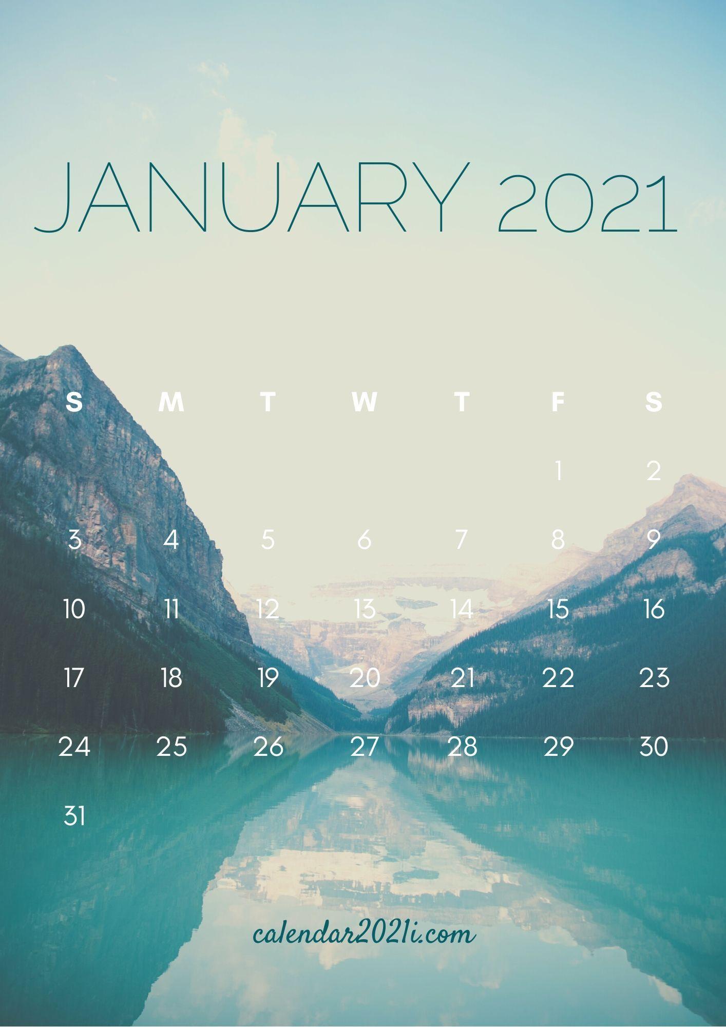January 2021 Calendar iPhone HD Wallpaper for home screen 1414x2000