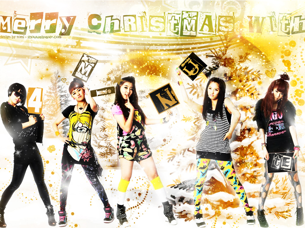 happy x mas with 4 minute Wallpaper JxHyjpg 1024x768