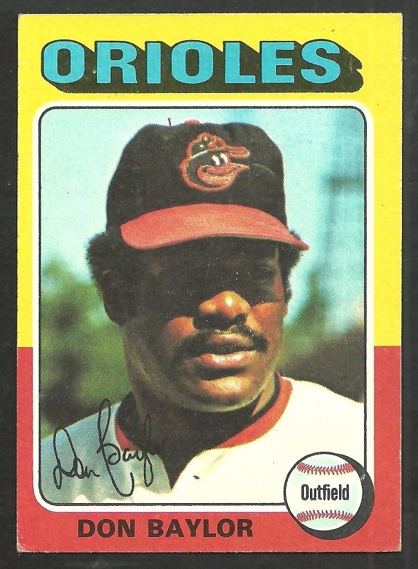 Baltimore Orioles Don Baylor 1975 Topps Baseball Card 382 604x821
