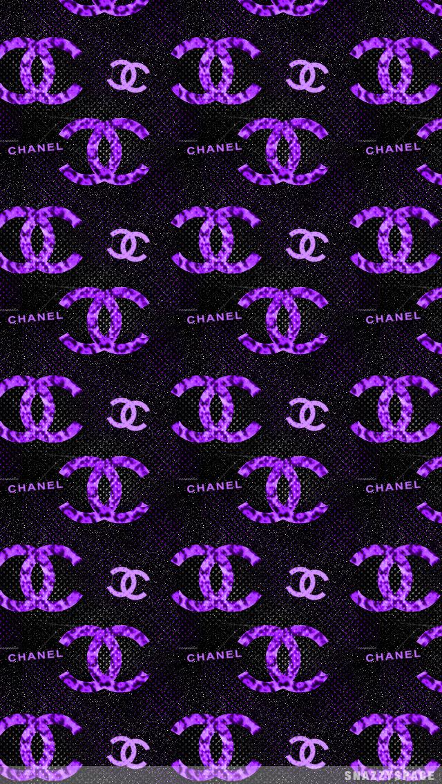 Purple Chanel iPhone Wallpaper 640x1136