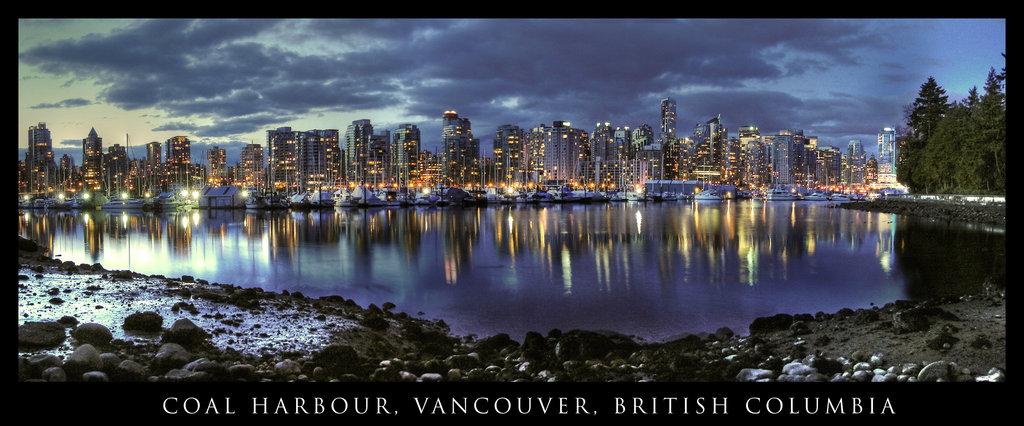 Vancouver Skyline by tt83x 1024x426