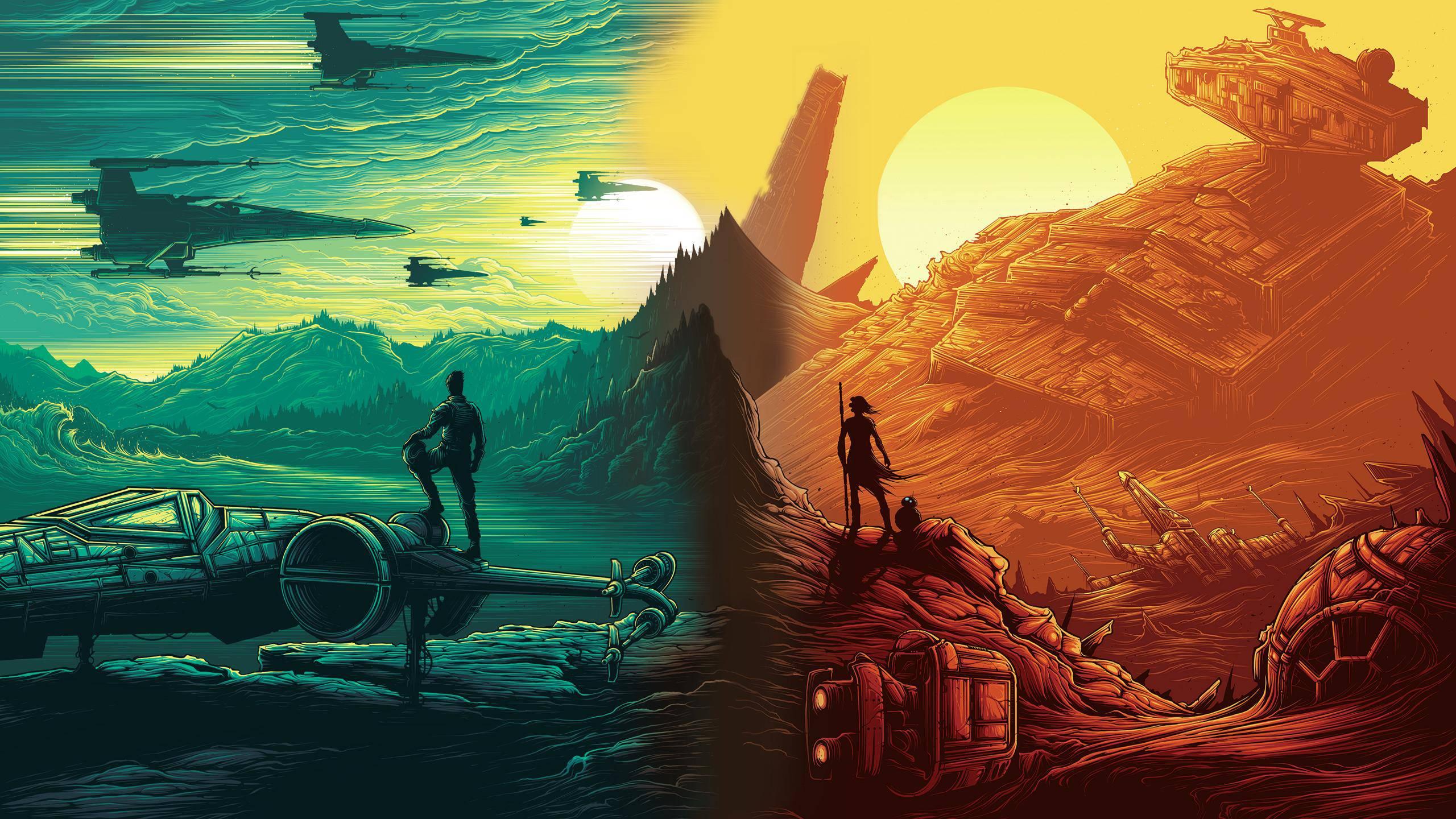 Free Download Star Wars The Force Awakens Amc One Sheet 24
