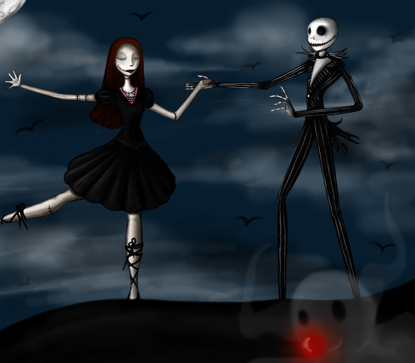 sally and jack nightmare before christmas wallpaper