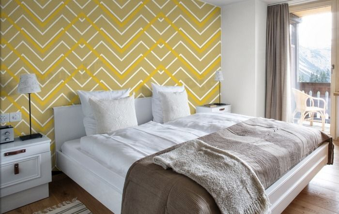 Yellow Chevron Wallpaper Removable Wallpaper for sale in Richmond 700x443