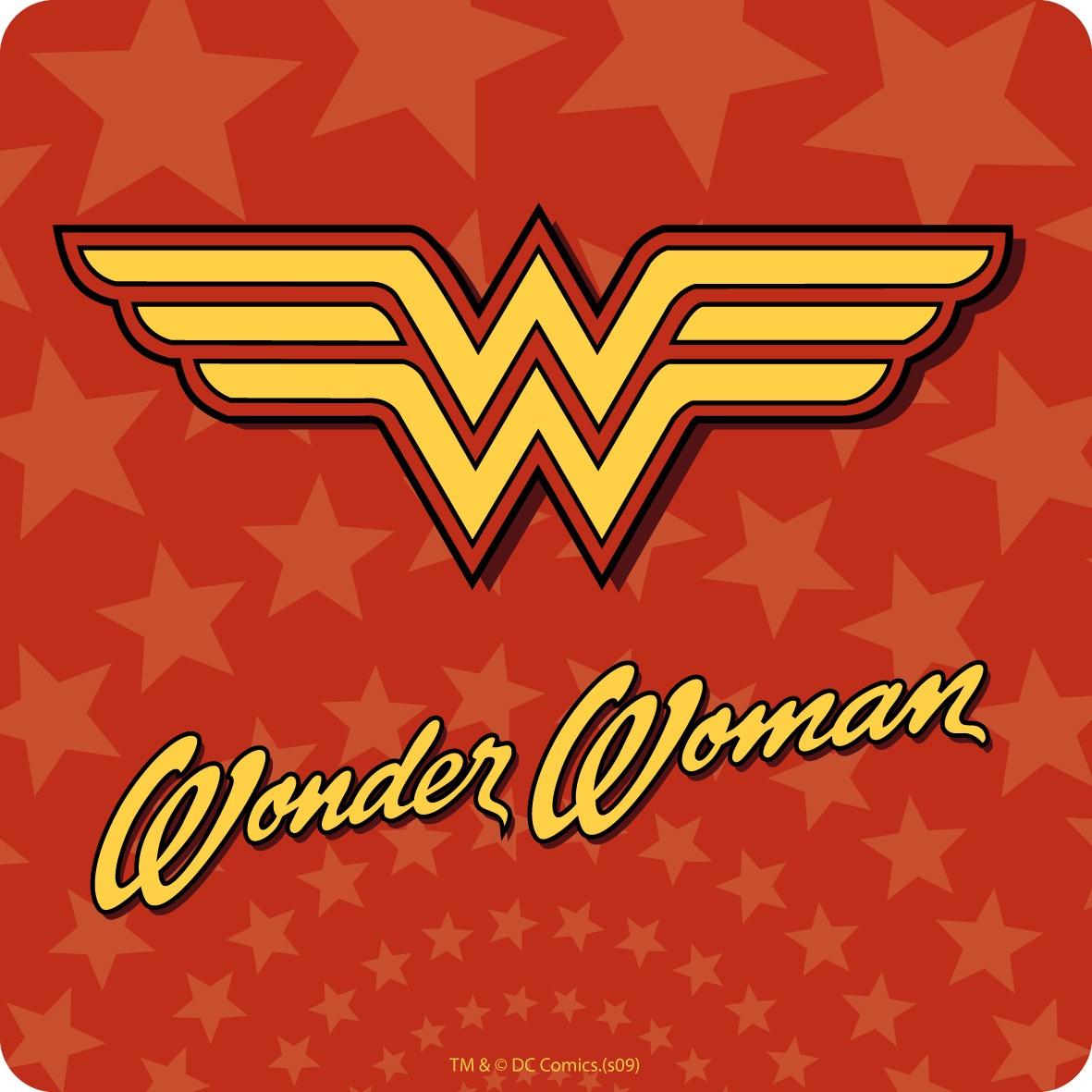 Wonder Woman Logo Single Coaster Coasters KitschaGoGo 1181x1181