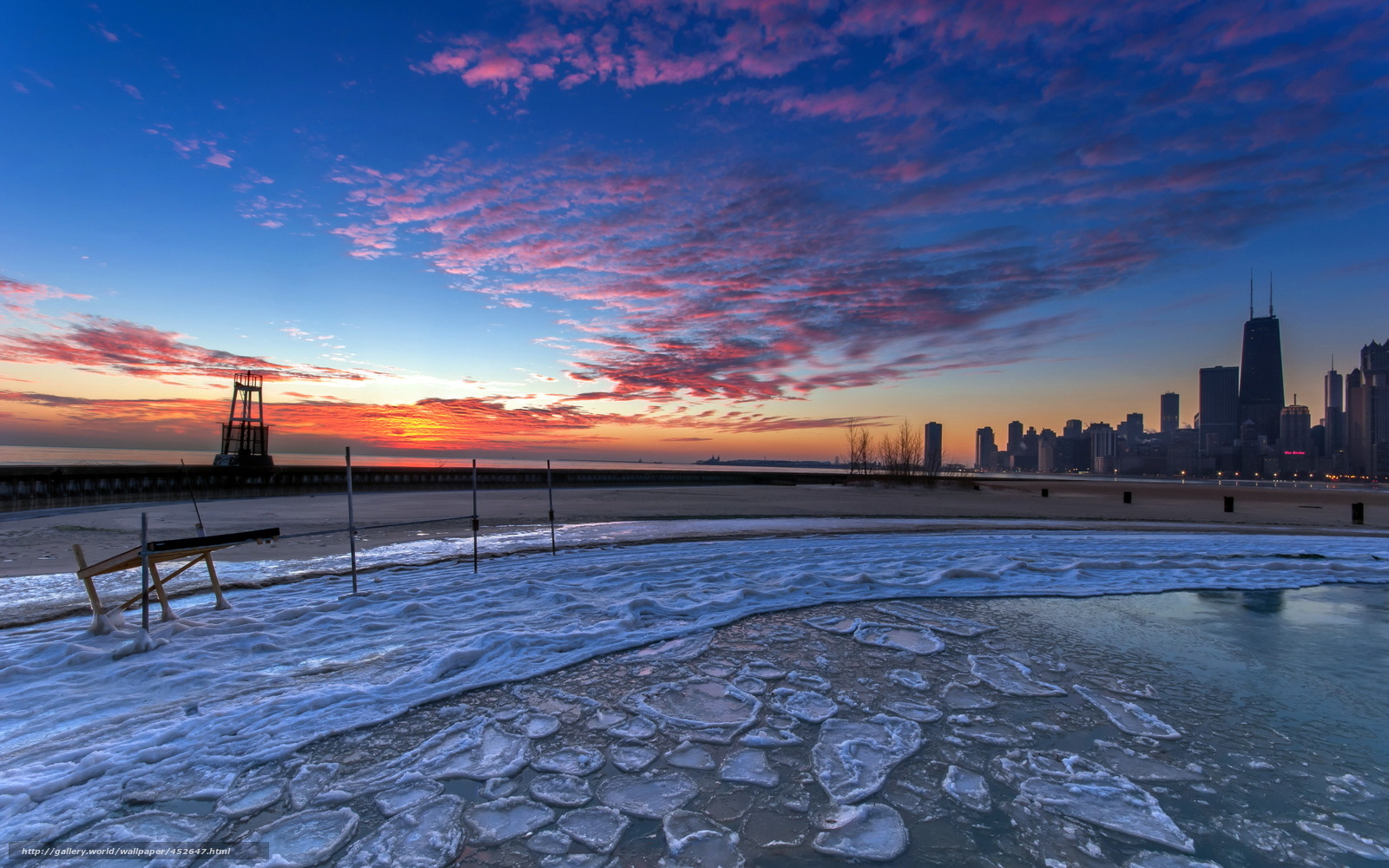 Download wallpaper united states illinois Chicago gold 1600x1000