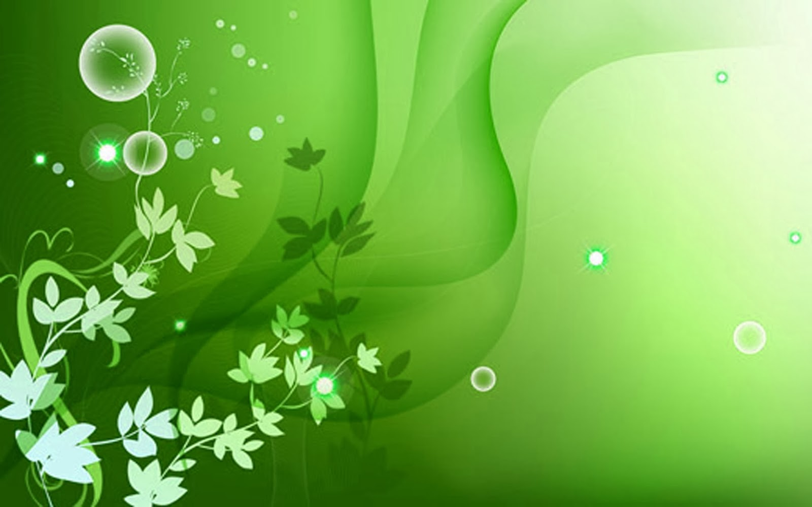 Color Wallpaper Green Flower Wallpaper 1600x1000