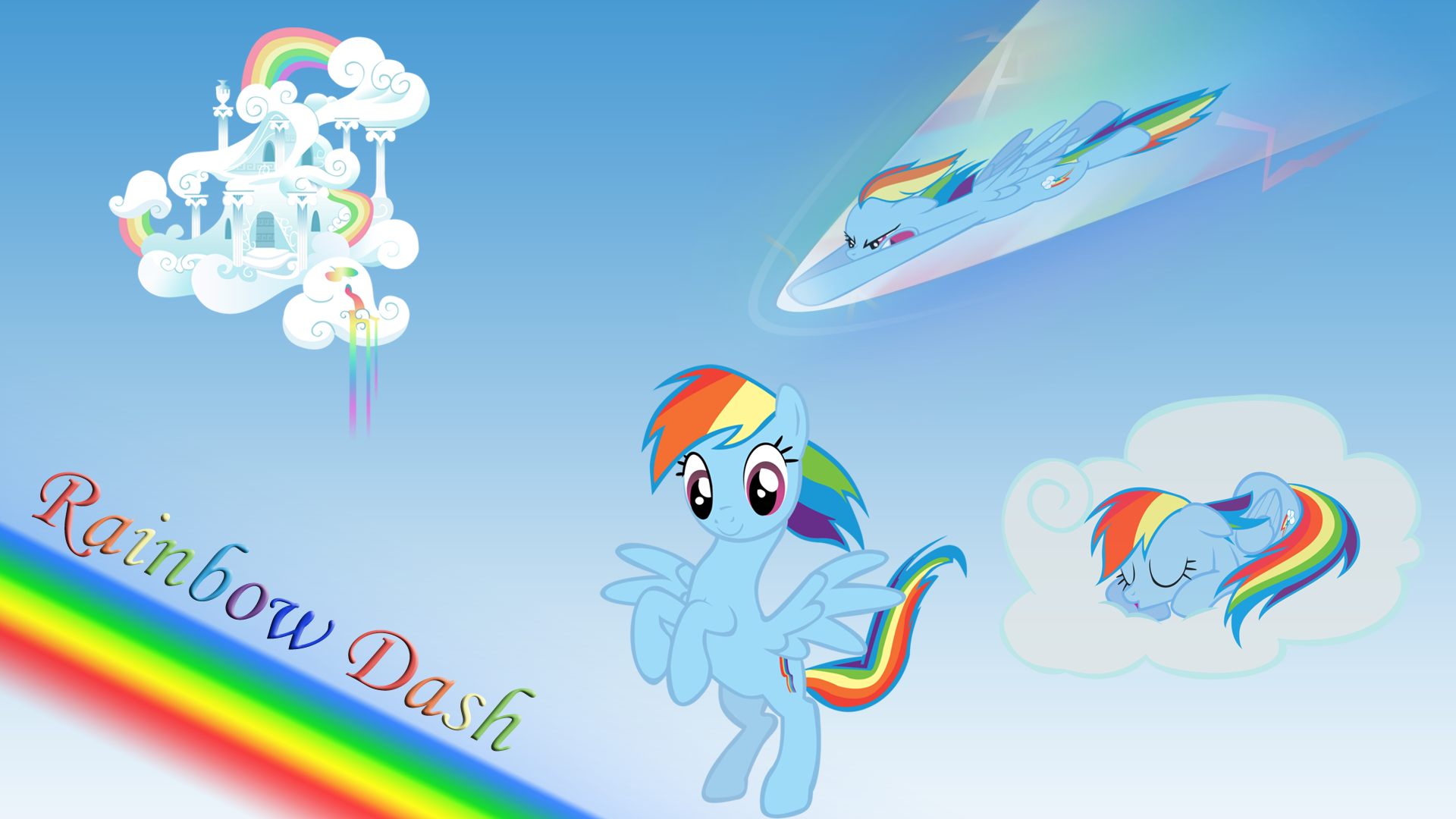 MLPFiM Rainbow Dash wallpaper by Apoljak 1920x1080