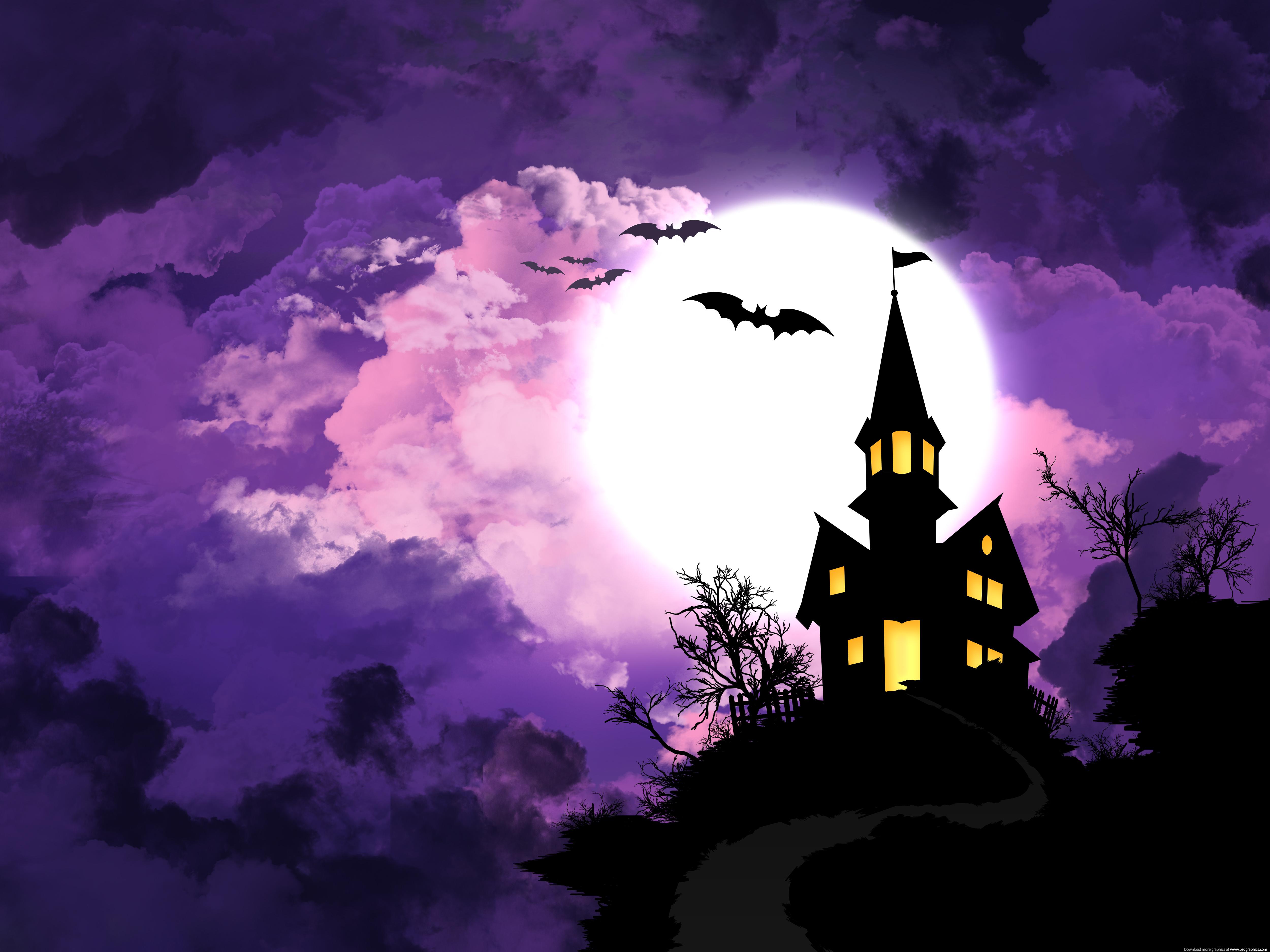 Halloween background PSDGraphics 5000x3750