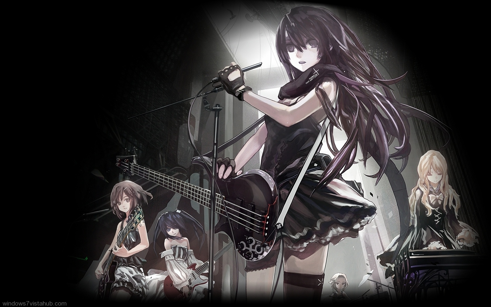 Free Download Rock Band Roll Girls Anime 1765 Wallpaper Wallpaper Hd