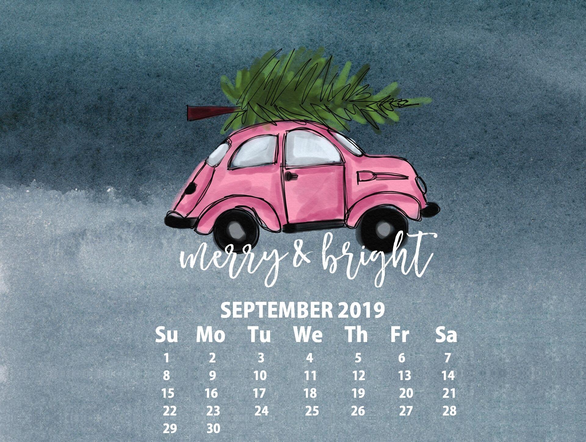 September 2019 HD Calendar Wallpaper Latest Calendar 1920x1450