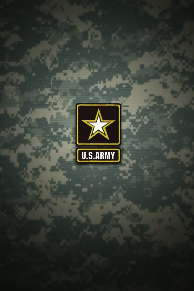 US Army logo on green iPhone Wallpaper background iphone 640x960
