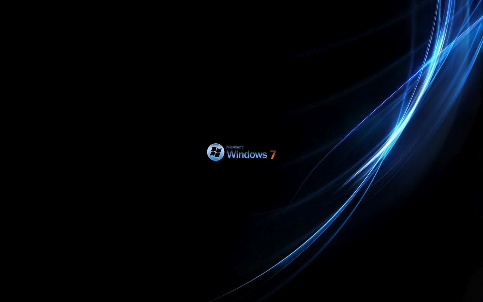 Black Color Windows 7 Wallpapers The Top Desktop HD Wallpapers 1600x1000