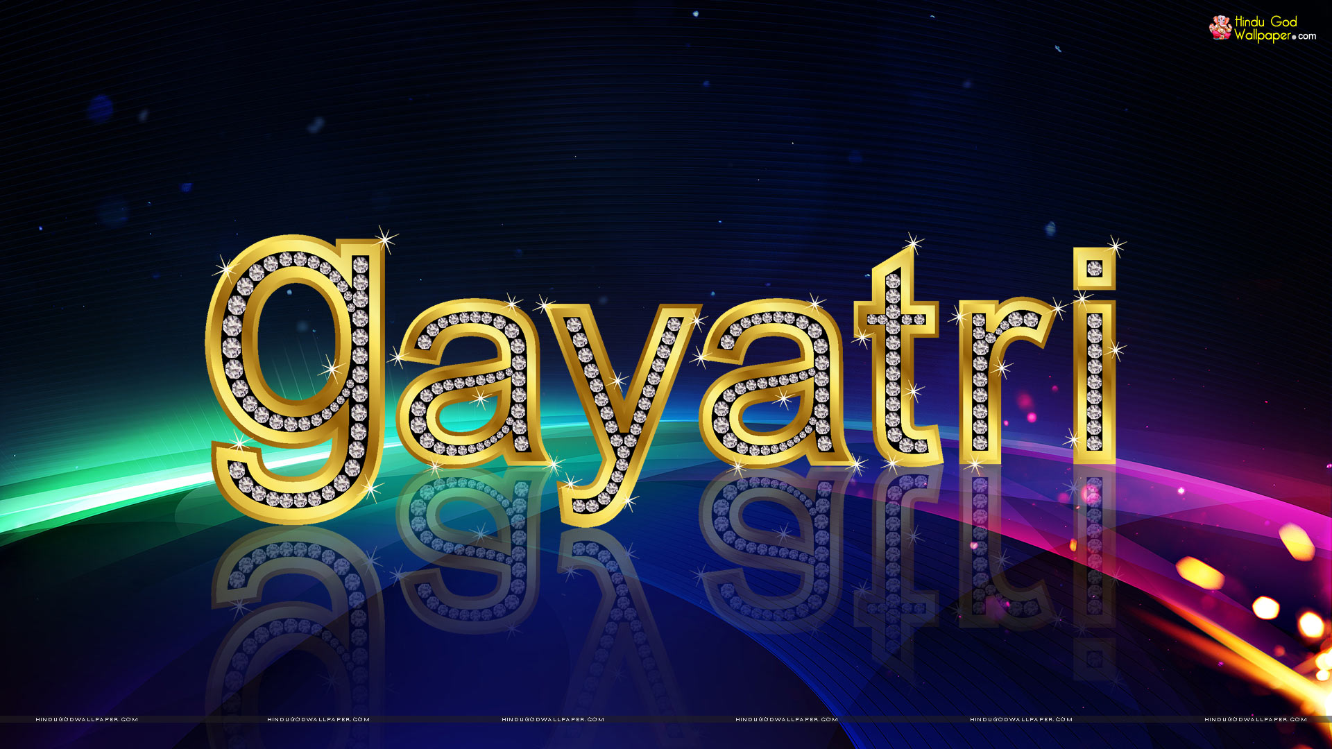 3D Gayatri Name Wallpaper Download 1920x1080