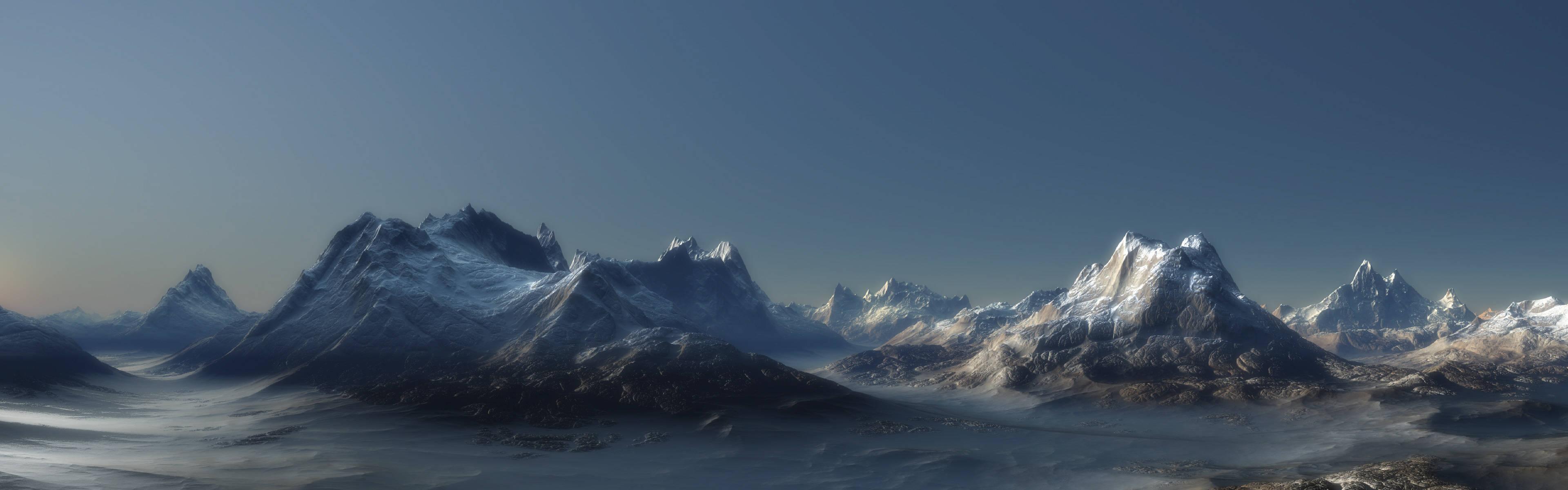Mountains Landscapes 38401200 Wallpaper 793715 3840x1200