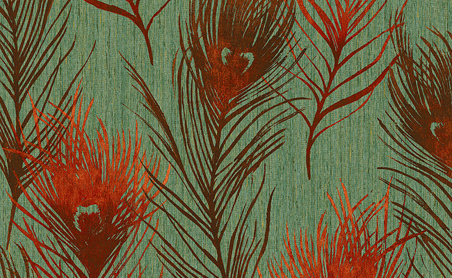 Wallpaper in Reds and Greens Design by Carl Robinson Style Quality 650x400