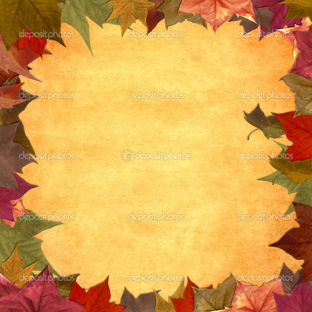 fall leaves wallpaper border