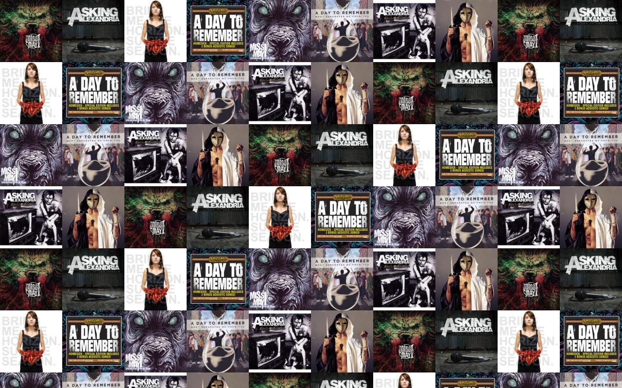 Miss May I Monument Asking Alexandria Stand Up Wallpaper Tiled 1280x800