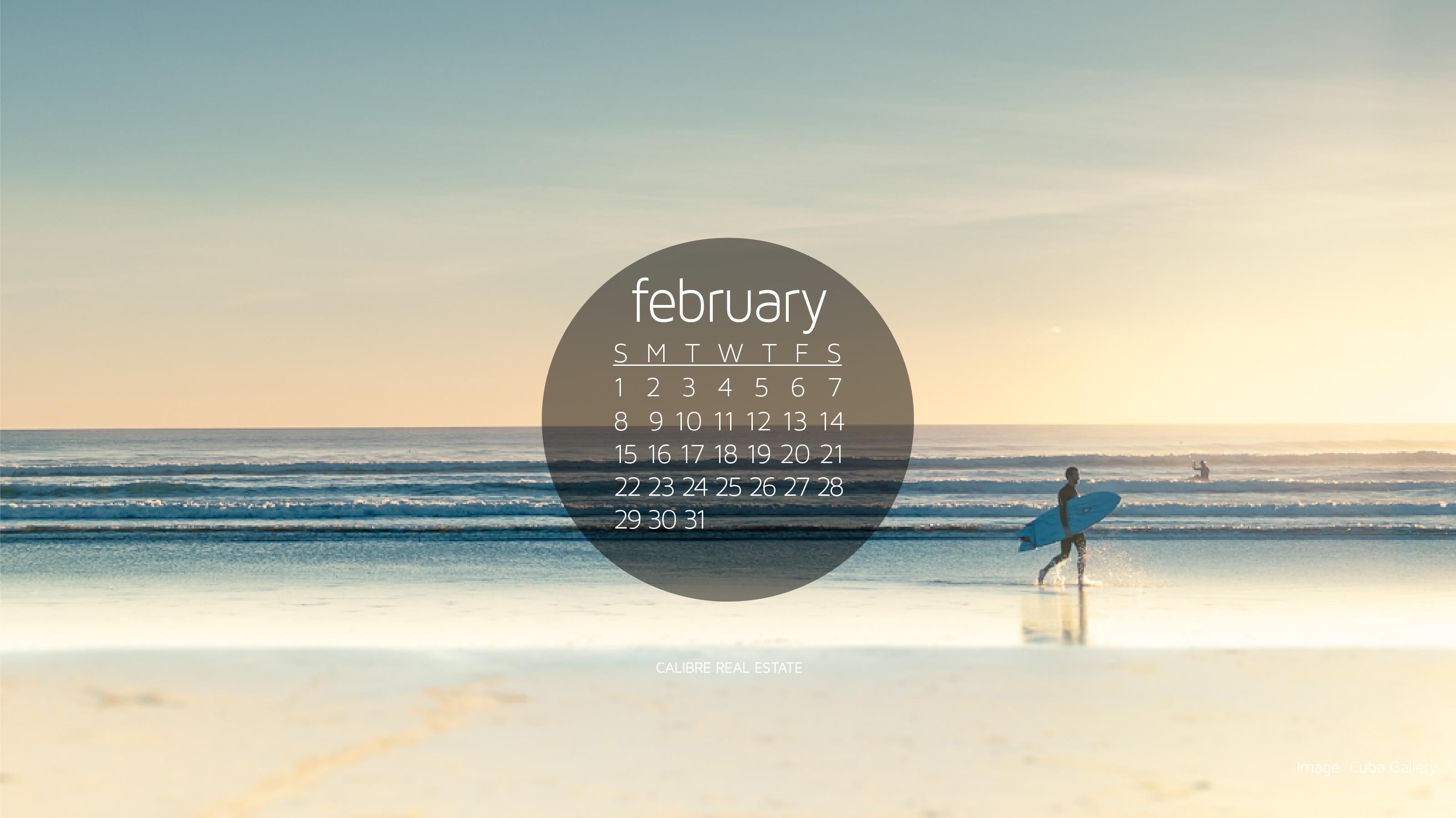 February 2015 Calendar Wallpaper 3201x1800