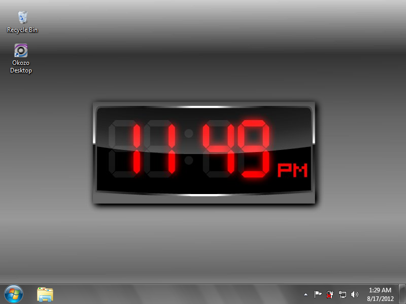 Free Download Digital Clock For Desktop Pc