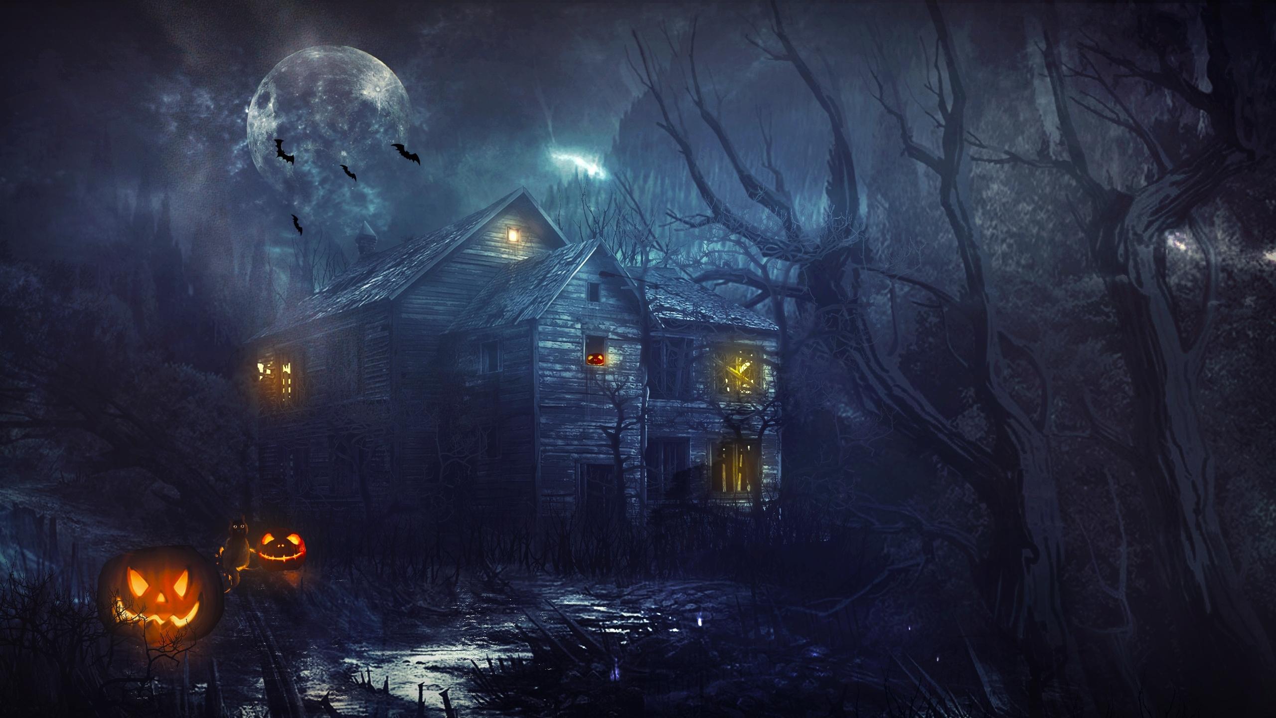 Haunted house wallpaper 31301 2560x1440