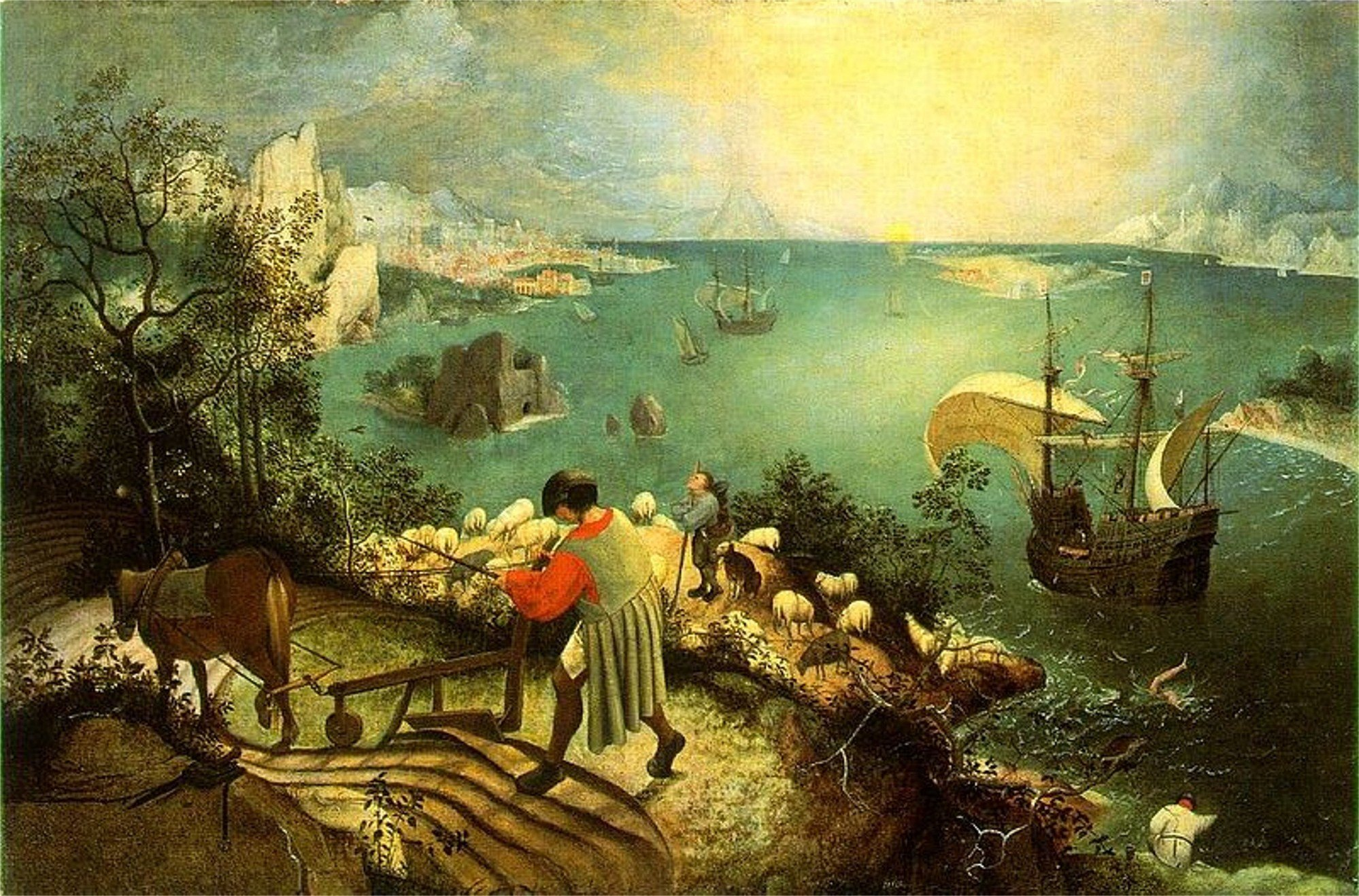 pieter bruegel landscape with the fall of icarus   Large Images 1998x1319