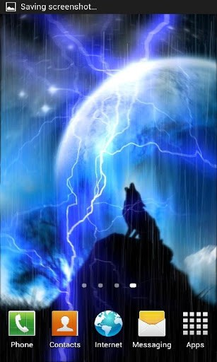 Raining Wolf Live Wallpaper with rain and lightning effects This is a 307x512