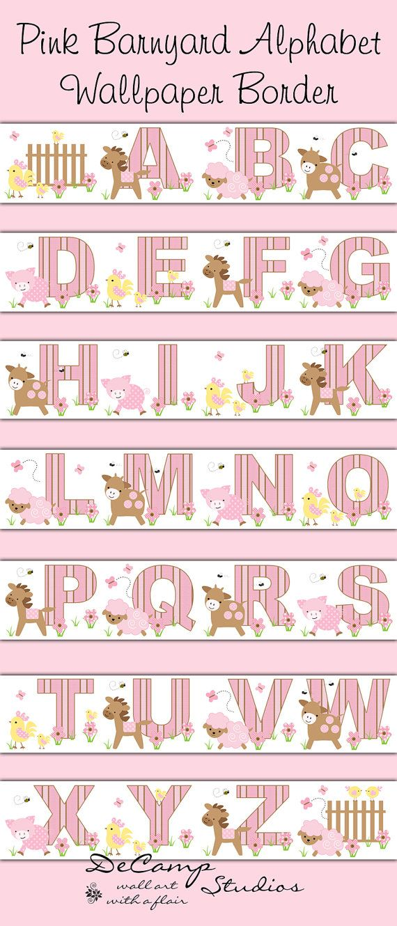 baby girl nurserys kids room children bedrooms farms animal wallpapers 570x1330