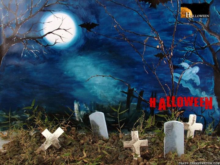 Tumba De Halloween Halloween Computer Wallpaper With Sound View 720x540